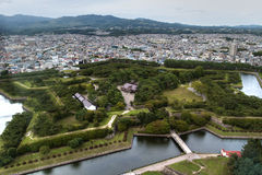 Park in Hakodate, Japan Stock Afbeelding