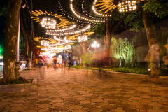 Park in Hanoi in de avond Stock Afbeelding