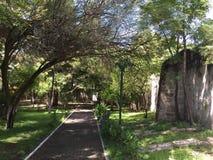 Cuitzeo`s Monk Gardens stock photos
