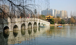 Park Hefeis China Xiaoyaojin Lizenzfreies Stockbild