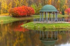 Park, Herbst, Natur, Panorama, Landschaft, Garten, bunter Baum Lizenzfreie Stockfotografie