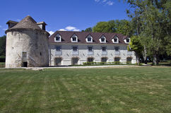 Park in het oude Franse kasteel. Stock Fotografie