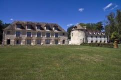 Park in het oude Franse kasteel. Royalty-vrije Stock Afbeelding