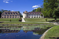 Park in het oude Franse kasteel. Stock Foto's