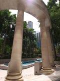 Park in het tsuioosten van tsimsha stock fotografie