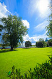 Park by historical Kalmar castle in Sweden Scandinavia Europe Stock Photography