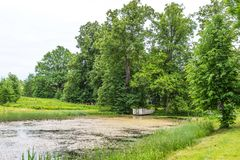 Park of Hmelita. Museum-Estate of A. S. Griboedov in Vyazma, Smolensk region Russia.  royalty free stock photography