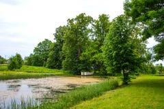 Park of Hmelita. Museum-Estate of A. S. Griboedov in Vyazma, Smolensk region Russia.  stock photography