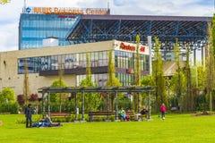 Park i Cluj-Napoca Royaltyfri Fotografi