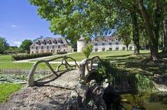 Park i det gammala franskaslottet. Royaltyfri Bild