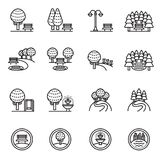 Park Icon Set. Line Style stock vector. royalty free illustration