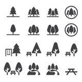 Park icon set Stock Image