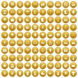 100 park icons set gold. 100 park icons set in gold circle isolated on white vector illustration vector illustration