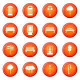 Park icons vector set Stock Images
