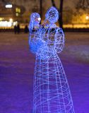 The park of illuminated sculptures They Were Here Royalty Free Stock Image