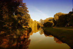 Park im Herbst Lizenzfreie Stockfotografie