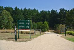 Park information board royalty free stock image