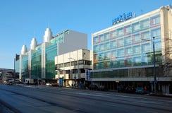 Park Inn hotel. TALLINN, ESTONIA - FEB 7, 2013 - Cityscape of Tallinn, Estonia. Park Inn hotel royalty free stock photos