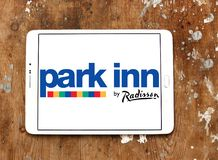 Park Inn by Radisson hotel logo. Logo of Park Inn by Radisson hotel on samsung tablet. Park Inn is a fresh and energetic mid-market hotel brand offering friendly stock image