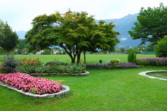 Park in Interlaken Royalty Free Stock Photos
