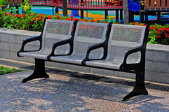 Park iron chairs Royalty Free Stock Photos