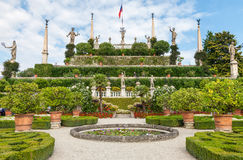 Park on the island of Isola Bella. Italy Stock Images