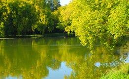 The park Jean-Jacques Rousseau in Ermenonville Stock Photos