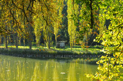 Park Jean-Jacques Rousseau in Ermenonville Royalty Free Stock Photo