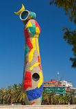 BARCELONA, SPAIN: Dona i Ocell (Woman and Bird) sculpture by Joan Miro Stock Photos