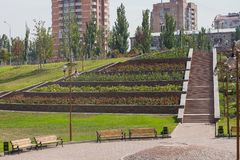 Park kamienie, Donetsk 2012 obrazy royalty free