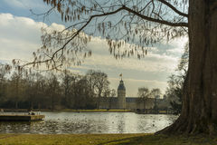 Park of Karlsruhe castle Royalty Free Stock Image