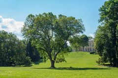 Park of Karolyi Castle in Fuzerradvany, Hungary Royalty Free Stock Images