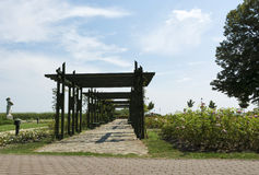 Park in Keszthely at Lake Balaton Stock Photo