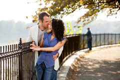 Park Kiss Royalty Free Stock Photo