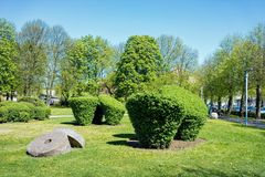 Park in Klaipeda in Lithuania. Eastern European country on the Baltic sea royalty free stock images