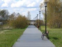 Park, kreatywnie, natura, drzewa, molo Zdjęcie Royalty Free