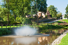 Park in Kuldiga, Latvia Royalty Free Stock Photography