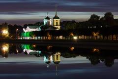 Park Kuskovo at night Royalty Free Stock Image