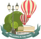 Park Label Royalty Free Stock Photography