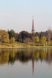 Park and lake Royalty Free Stock Photography