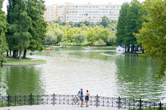 Park lake in bucharest Royalty Free Stock Images