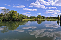 Park Lake Clouds Royalty Free Stock Photo