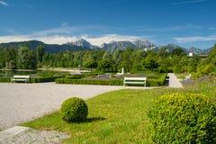 Park at lake Forggensee Royalty Free Stock Images