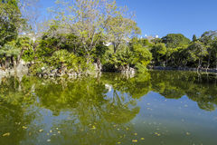 The park of the Lake, Masnou Spain Stock Photos