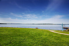 Park on Lake Washington. On a sunny Spring morning Stock Photography