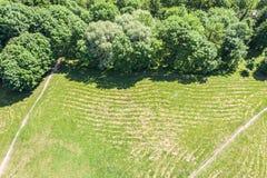 Park landscape. aerial view stock images