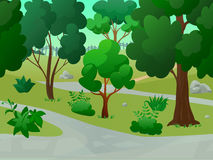 Park Landscape Illustration Royalty Free Stock Photo