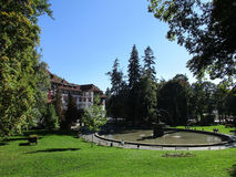 Park landscape from Sinaia resort in Romania. Park landscape in the Park Sinaia resort in Romania on a sunny day Royalty Free Stock Image