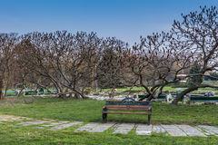 Park landscape in the spring time in Bucharest Stock Image