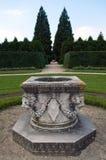 Park in Lednice. Stone statue in the park, Lednice, Czech republic Stock Photography